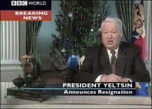 Yeltsin resigntation BBC